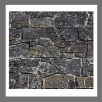 RS-W-005 -Design Verblender Naturstein Granit  Steinwand Black Limestone