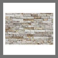 RS-W-012 Wanddesign Natursteinwand Verblender Travertin