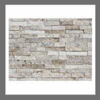 RS-W-013 Wanddesign Natursteinwand Verblender Travertin